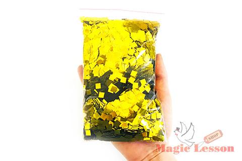 Конфетти золотого цвета