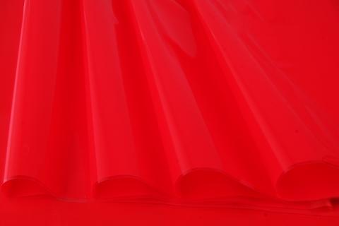 Пленка цветная лак 70 см х 7,6 м. Цвет: красный