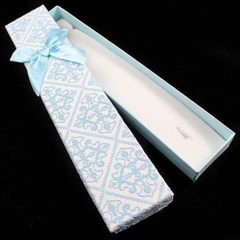 Подарочная коробка для украшений 21 см светло-голубая