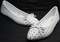 Остроносые балетки Vasari Gloria 19Y38860-37 White.