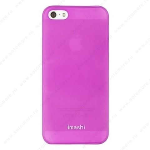 Накладка IMASHI для iPhone SE/ 5s/ 5C/ 5 розовая
