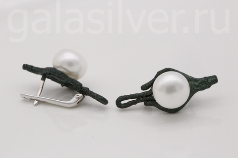 Серьги с жемчугом из серебра 52261S1Z DeFleur