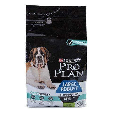 Pro Plan сухой корм для взрослых мощных телом пород с чувствительным пищеварением (ягненок) 3 кг