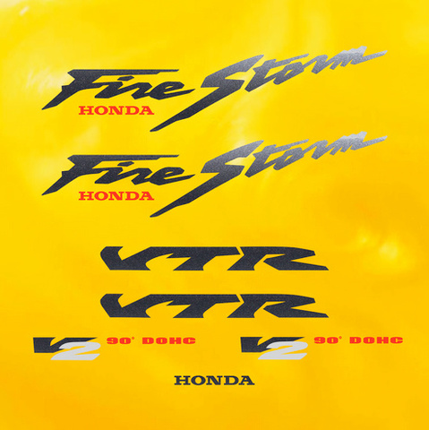 Набор виниловых наклеек на мотоцикл HONDA VTR 1000F FIRESTORM 1998