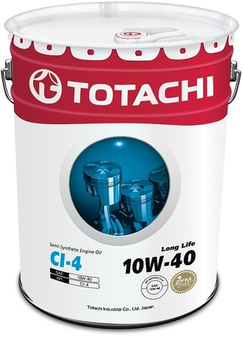 Long Life 10W-40 TOTACHI масло дизельное моторное полусинтетическое (20 Литров)