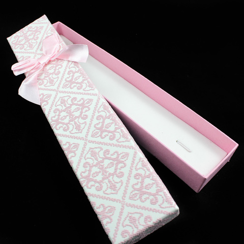 Подарочная коробка для украшений 21 см светло-розовая