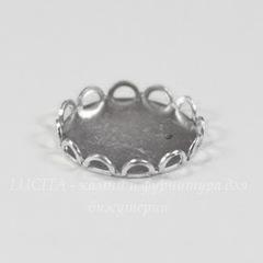 Сеттинг - основа для камеи или кабошона 13 мм (оксид серебра)