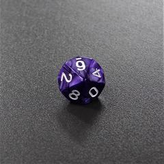 Синий мраморный десятигранный кубик (d10) для ролевых и настольных игр