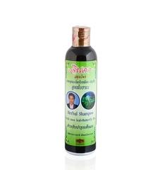 Лечебный тайский шампунь для роста и против выпадения волос Джинда Herbal Hair Shampoo Fresh mee-leaf+Butterfly Pea, 250 мл