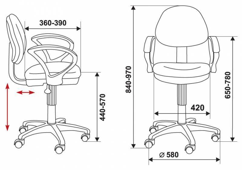 Кресло для персонала БЮРОКРАТ Ch-G318AXN