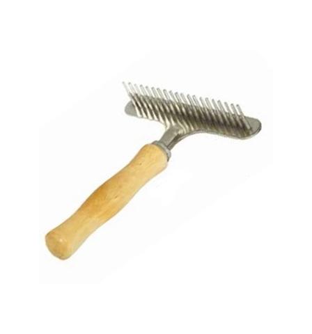 Триол расческа-грабли, деревянная ручка