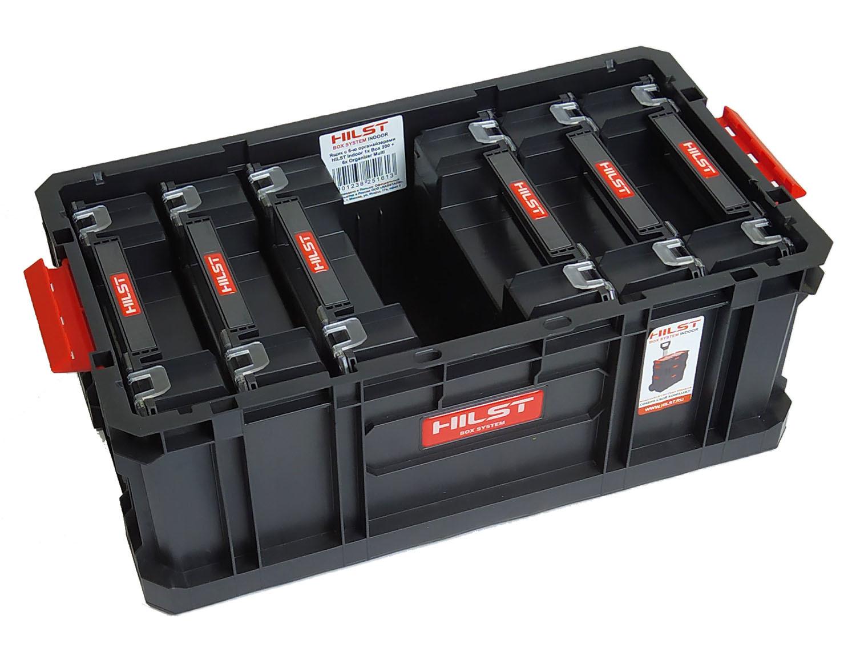 Модульный ящик для инструментов с шестью дополнительными органайзерами HILST Indoor stanley ящик для инструмента jumbo с 2 мя съемными органайзерами в крышке отсеком для отверточных