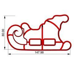 Сани форма для пряника 8см
