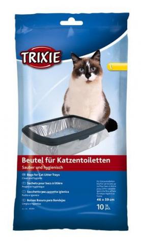 Trixie пакеты уборочные для кошачьих туалетов XL 56 см x 71 см х 10 шт