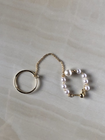 Кольцо двойное Бонита, позолота