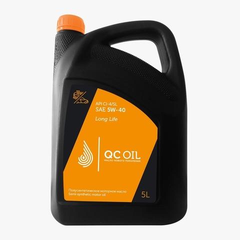 Моторное масло для грузовых автомобилей QC Oil Long Life 5W-40 (полусинтетическое) (5л.)