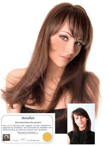 Волосы на заколках,цвет #8-светлый каштан
