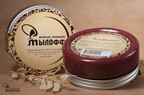 Клюквенный солевой скраб с маслами ши и кокоса и витамином Е 250 г ТМ Мылофф