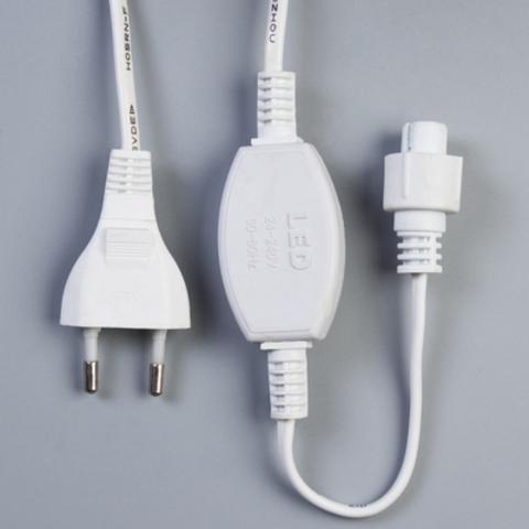 Силовой шнур для светодиодного занавеса белый