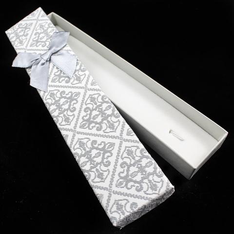 Подарочная коробка для украшений 21 см светло-серая