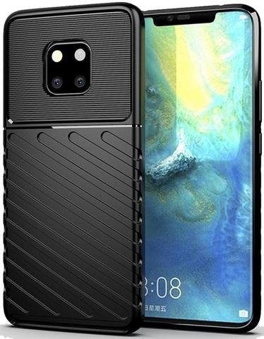 Чехол Huawei Mate 20 Pro (Mate20 RS) цвет Black (черный), серия Onyx, Caseport