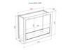 Схема чертеж биокамин Lux Fire Кабинет 810 М