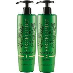 Orofluido Amazonia Set - Набор (Восстанавливающее масло- 500 мл. + Очищающий шампунь - 500 мл.)