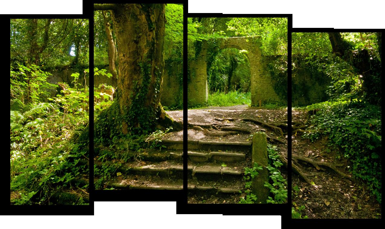 """Природа Модульная картина """"Заброшенный парк"""" М507.png"""