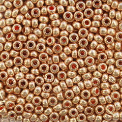 18589 Бисер 10/0 Preciosa Кристалл Металлик русское золото