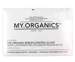 Набор ампул и шампунь: Органический эликсир для контроля жирности волос и кожи головы, My.Organics