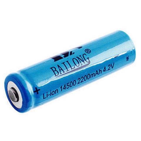 Аккумуляторы 14500 Bailong 1300mAh (Li-ion) blue