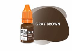 Gray Brown (средне-коричневый холодный) • Wizart Strong • пигмент для бровей