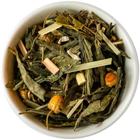Зеленый чай с ромашкой и лемонграссом