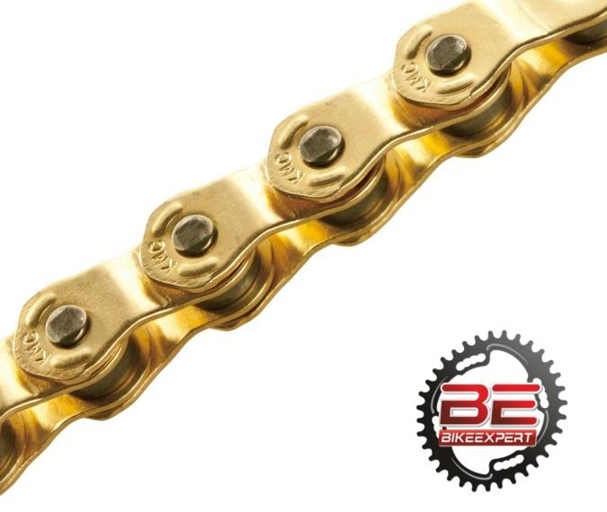 Велосипедная цепь КМС HL1 Half Link Gold