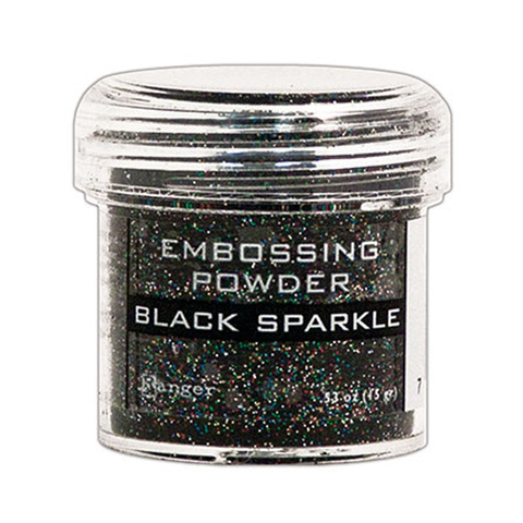 Пудра для эмбоссинга Ranger Ink- Black sparkle