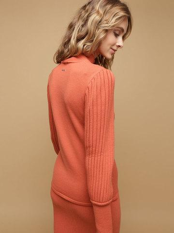Женский джемпер терракотового цвета из 100% шерсти - фото 2