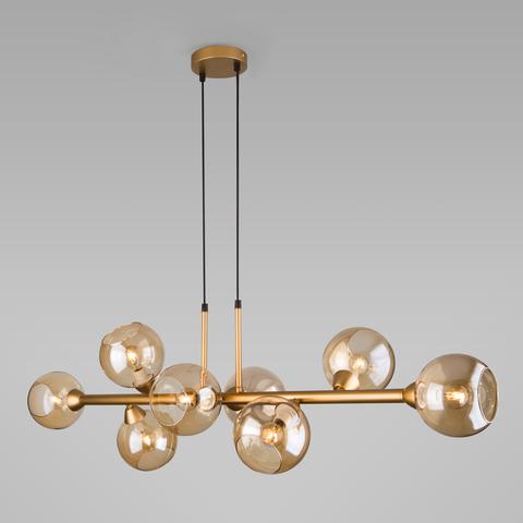 Подвесной светильник с круглыми стеклянными плафонами 70113/8 янтарный