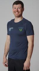 Элитная мужская футболка Nordski Sport BlueBerry RUS 2020