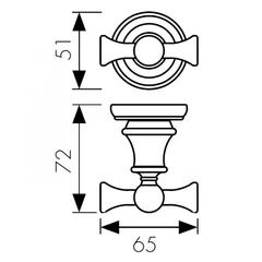 Крючок двойной KAISER Arno KH-2202схема