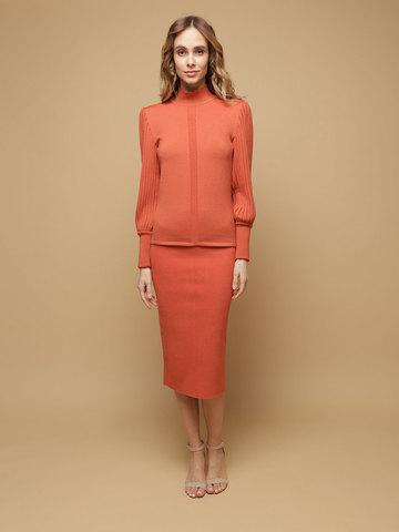 Женский джемпер терракотового цвета из 100% шерсти - фото 3