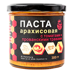 Арахисовая паста с ТОМАТАМИ и прованскими ТРАВАМИ Royal Nut 300 г