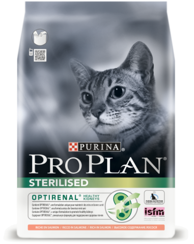 Purina PRO PLAN Sterilised с лососем 1,5 кг
