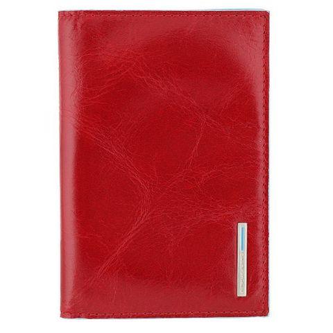 Обложка для паспорта Piquadro Blue Square (AS300B2/R) красная кожа