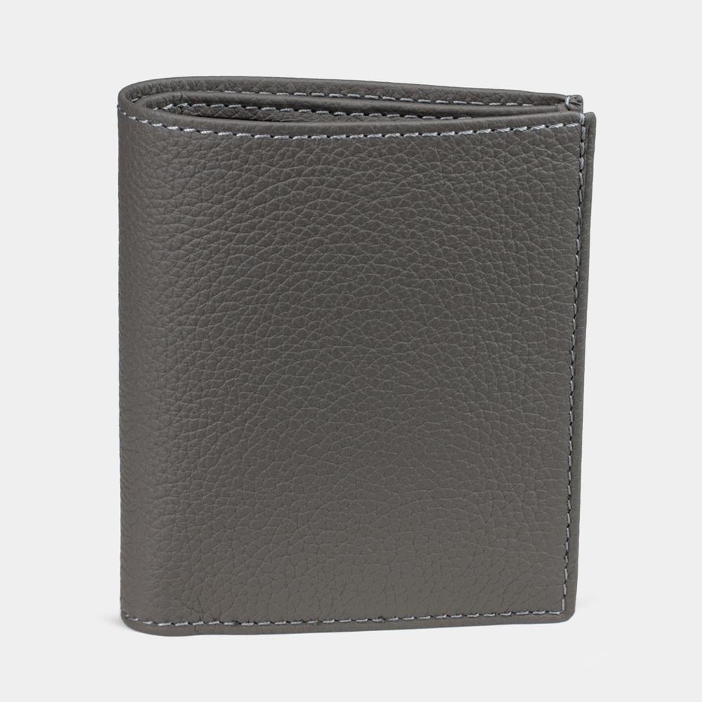 Мини-кошелек Pochette Bicolor из натуральной кожи теленка, серого цвета