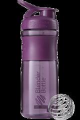 BlenderBottle SportMixer, Универсальная Спортивная бутылка-шейкер с венчиком. Шейкер спортиыный, Бутылка для воды, SportMixer TRITAN, blenderbottle купить  Plum-сливовый 828 мл cat