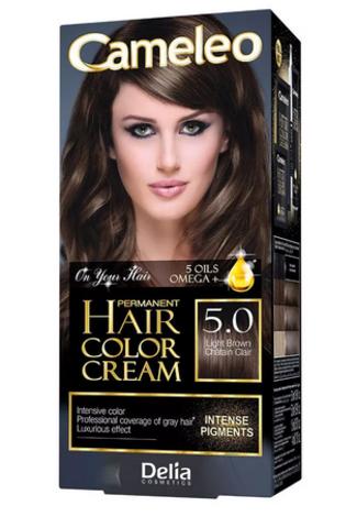 Delia Cosmetics Cameleo Kрем-краска для волос тон 5.0 светло коричневый