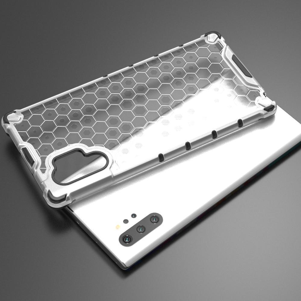 Прозрачный чехол для Samsung Galaxy Note 10 плюс ударопрочный от Caseport, серия Honey