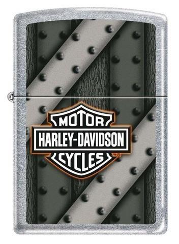Зажигалка Zippo Harley-Davidson, латунь с покрытием Street Chrome, серебристая, 36x12x56 мм123