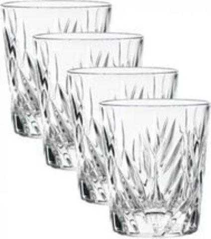Набор из 4 низких хрустальных стаканов для виски Imperial, 310 мл