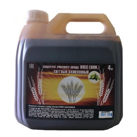 Концентратрированный охмеленный светлый ячменный солод КПК, 4 кг на 20 л